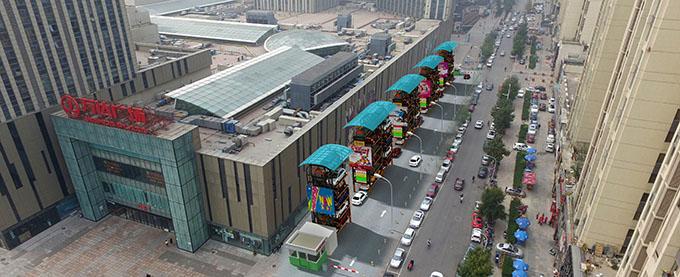 万达广场垂直循环式立体停车场项目