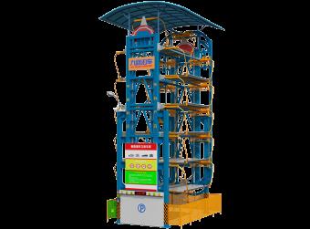 12车位垂直循环类立体车库