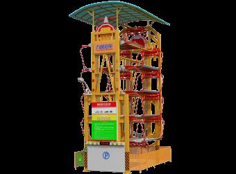 10车位垂直循环立体车库