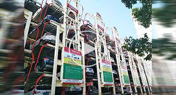 江苏大丰垂直循环立体停车场运行视频